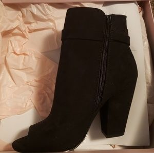 Just Fab black ankle booties.